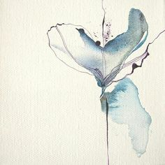 Watercolour and ink