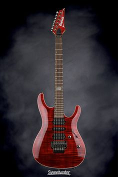 Ibanez Kiko Loureiro KIKO10P (Premium) Transparent Ruby Red | Sweetwater.com