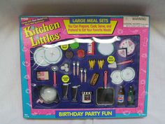BRAND NEW 1995 BARBIE TYCO KITCHEN LITTLES BIRTHDAY PARTY FUN LARGE MEAL SETS | eBay