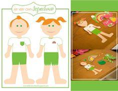 Leprechaun paper dolls