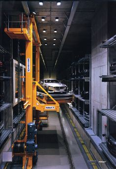 The following is at BMW's company HQ in Germany, a monstrous warehouse with stacks of moveable shelves house many of their concept cars.