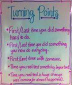 Turning Points - great for generating ideas