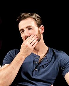 Chris Evans Appreciation I'd love to run my fingers through that beard scruff
