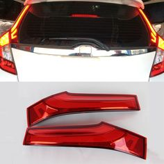 72.57$  Buy now - http://alicc9.worldwells.pw/go.php?t=32605498101 - 2 Pcs/Set Car Styling 12V 10W ABS+LED Rear Tail Pillar Lamp Break Light Warning Signal For Honda Fit Jazz 3rd 2014 2015 2016