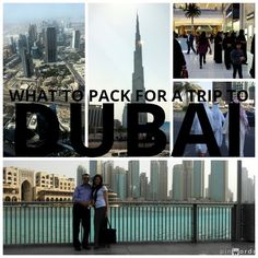 What to Pack for a Trip to Dubai, UAE