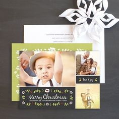 Christmas Garland Holiday Photo Cards by Elli