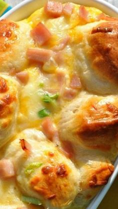 {Overnight} Ham, Egg, & Cheese Monkey Bread ~ a delicious, easy, make-ahead brunch or weeknight dinner