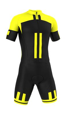 Professional  Giallo Nero  Road Suit (skinsuit) Made in Italy by GSG. Find  this Pin and more on Men s Cycling Apparel by Cento ... 613a471d9