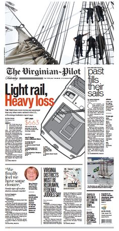 The Virginian-Pilot's front page for Saturday, June 6, 2015.