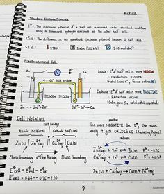 A Level Chemistry Notes Electrochemistry Hey guys The chemistry notes that I will post for the rest of the year are notes that I chemistry A Level Chemistry Notes, Study Chemistry, Chemistry Classroom, Chemistry Humor, Physical Chemistry, Teaching Chemistry, Chemistry Lessons, Chemistry Experiments, Science Chemistry