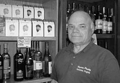 Bobby Wilcox poses inside Lukhard's Virginia Pantry - from summer 2006 edition of Virginia ABC Licensee newsletter