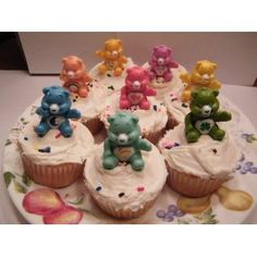 Set of Care Bears cake toppers