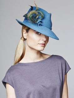 Peacock feather fedora   Juliette Botterill Millinery AW 2014