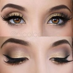nicol concilio simple gold eyeshadow look using anastasia beverly hills shadow couture palette