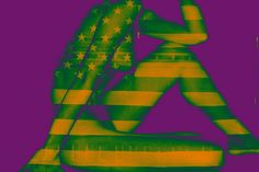 "Saatchi Art Artist MISHA DONTSOV; Photography, """"Pop Art Nude VI-A"", Oversized 43""x64"" vibrant color poster print, Limited edition 1 of 5"" #art"