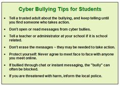 follow these tips if you are being bullied
