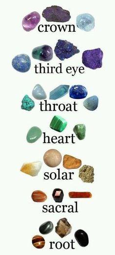 Healing gemstones.