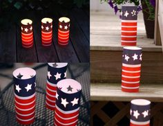 Fourth of July Luminary Party Decoration: 4th of July Paper Luminary Craft