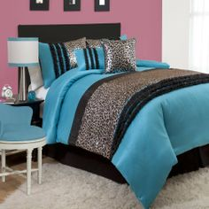 Lush Decor Kenya 6-Piece Comforter Set, Full, Black/Blue by Lush Decor. Save 55 Off!. $126.72. Fabric content: 100-percent polyester. Available in black/blue. Care instruction: comforter/bed skirt/shams: dry clean, pillows: spot clean. 6-Piece set includes: one comforter, one bedskirt, 2 pillow shams and two decorative pillows. This metallic animal print and faux silk comforter is a great way to make your child's room stylish and hip. Animal prints are so fashion forward and the added det...