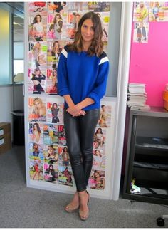 Office Style = Sophie L. (10/09/2012)    Streetstyle Rock    Pull : Le Mont St-Michel  Pantalon : IRO  Chaussures : Barbara Bui