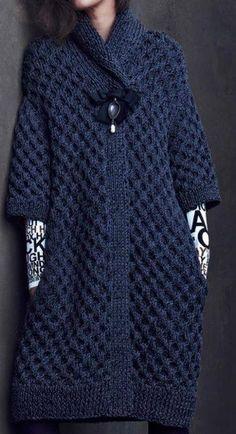 Suéter largo azul