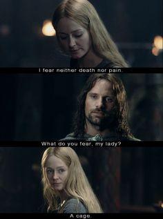 Aragorn and Eowyn