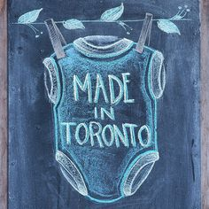 Did you know? All mini mioche clothing is designed and made entirely in Toronto. More amazing chalkboard art by the uber talented @katgomboc