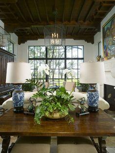 mediterranean living room by Summerour Architects - Ralph Lauren style