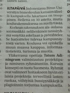 Kurssin konsepti on Suomesta