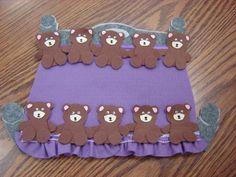 Ten Teddy Bears #feltboardstories #flannelfriday #storytime #flannelboard