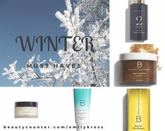Five {SAFE} winter Must Haves! Cleansing Balm, body oils, sugar scrub. www.beautycounter.com/emilykress