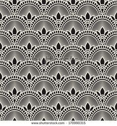 A visually stimulating Art Deco influenced design with a bold black and white colour palette. This design would compliment a bathroom, living room or home office. It would also look perfect in a retail space or commercial foyer. Motif Art Deco, Art Deco Design, Art Deco Fabric, Geometric Wallpaper, Pattern Wallpaper, Tapetes Art Deco, Textures Patterns, Fabric Patterns, Line Patterns
