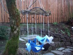 Baby Bird Mobile ON SALE by TweetToys on Etsy, $35.00