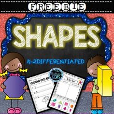 Freebie - Shape Print and GO Activities Science Activities, Classroom Activities, Shape Activities, Math Lesson Plans, Math Lessons, Math Stations, Math Centers, 3d Shapes Worksheets, Teacher Resources