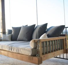 Imagine floating and relaxing on your swing bed. Your amazing views from your porch or balcony drawing you to feel ultimate peace and tranquility. This is a great addition to your outdoor furniture and ideal for enjoying your morning coffee or relaxing with a glass of wine after an exhausting day. Friends and family will be envious of your hangout spot, they will want their own outdoor living swing or they will probably be at your home all the time. Who knew patio furniture could be so…