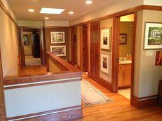modern california prairie style   2nd floor hallway modern prairie style