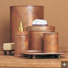 copper bath accessories $260
