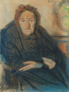 Stanisław Wyspiański - Portrait of Klementyna Olcynger, 1894