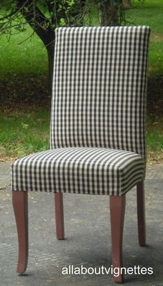 Dining chair possibility...maybe red and white checkered.