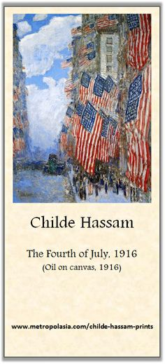 Childe Hassam - The fourth of July 1916 (Roni's Impressionist Gallery)