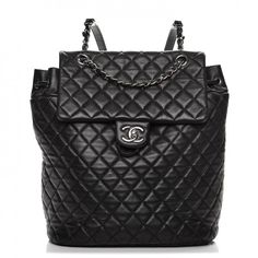 4c46feef28e6 CHANEL Lambskin Quilted Large Urban Spirit Backpack Black
