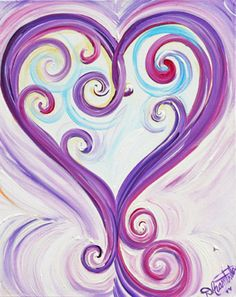 'Enchanted Heart' ~ Heart Art Prints | Debbie Marie Arambula | The Painter of Love | Morgan Hill, CA