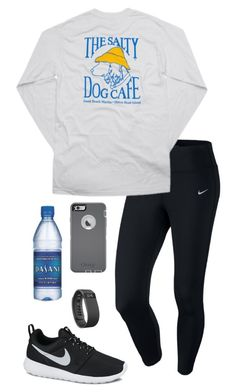 #Healthy2k16 by toonceyb ❤ liked on Polyvore featuring NIKE, Hanes, OtterBox, Fitbit, womens clothing, womens fashion, women, female, woman and misses