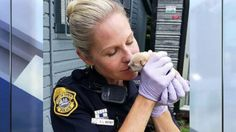 Adorable Tiny Week-Old Puppy Rescued From Plastic Bag in Trash Bin in Florida