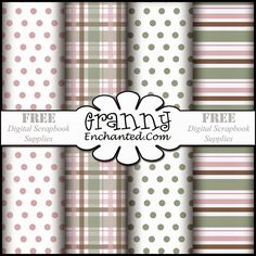 Free Digital Scrapbook Paper Pack! ✿ Join 6,300 others. Follow the Free Digital Scrapbook board for daily freebies. Visit GrannyEnchanted.Com for thousands of digital scrapbook freebies. ✿