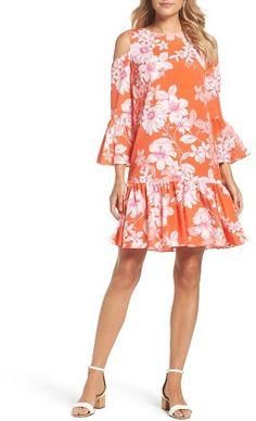 26acaf51d60 Women s Eliza J Cold Shoulder Bell Sleeve Dress  affiliate link  Eliza J  Dresses