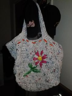 Crochet recycled plastic bags