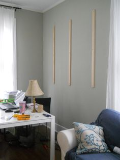 How to hang a peg board.