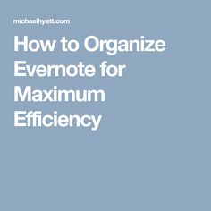 If you want to get the maximum benefit out of Evernote, you need to establish a solid structure using stacks, notebooks, and tags. Daily Organization, Business Organization, Computer Supplies, Computer Tips, Home Management Binder, Time Management, Software, Evernote, Computer Programming
