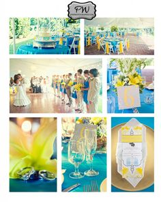 Clover Forest Plantation, yellow and blue color palette